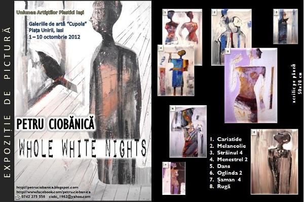 Expozitie de pictura a artistului Petru Ciobanica/ 1 - 20 octombrie 2012 afis