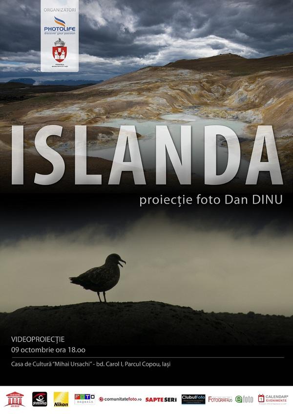 ISLANDA – proiectie foto Dan Dinu la Iasi/ 9 octombrie 2012
