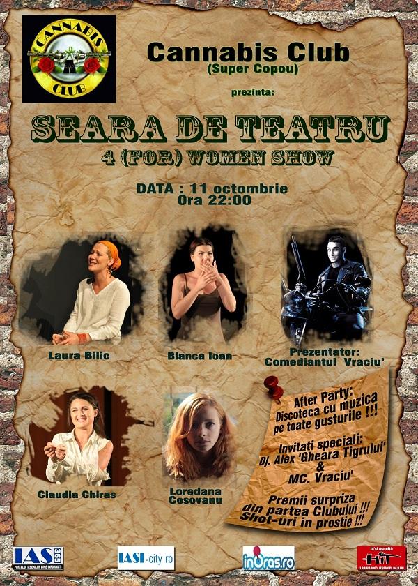 Seara de teatru: 4(for) Women Show/ 11 octombrie 2012
