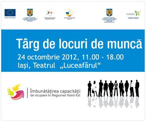 Târg de locuri de muncă Iasi/ 24 octombrie 2012