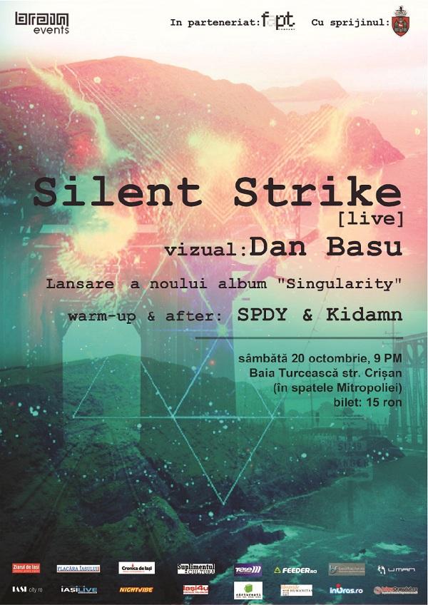 Silent Strike isi lanseaza noul album la Iasi/ 20 octombrie 2012 afis