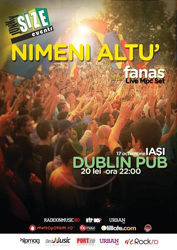 Concert Nimeni Altu' in Iasi/ 17 octombrie afis