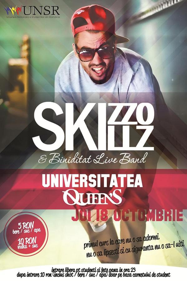 Concert Skizzo Skillz in Queens/ 18 octombrie afis