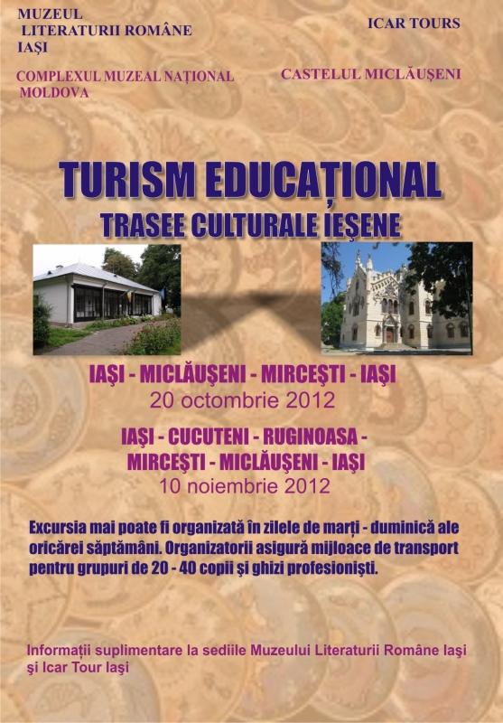 Turism educațional. Trasee culturale ieșene/ 20 octombrie