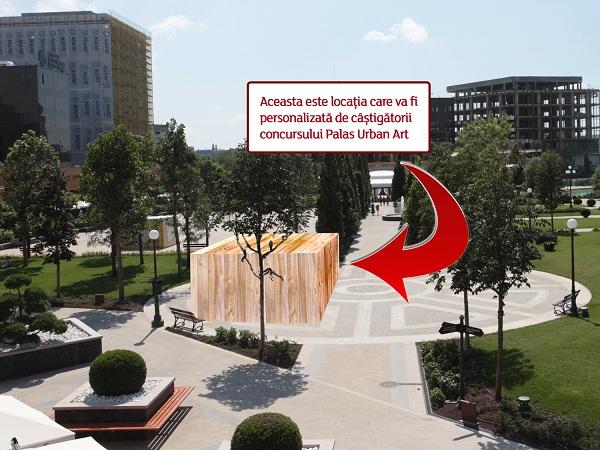 """unde vor fi afisate creatiile castigatoare """"Palas Urban Art""""/ 19 octombrie - 5 noiembrie 2012"""