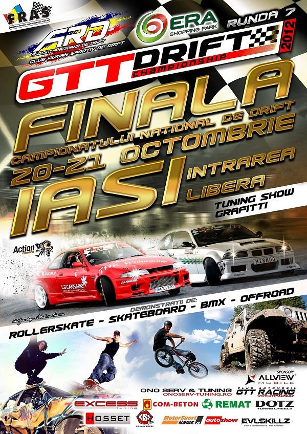 Finala Campionatului National de Drift, la Iasi/ 20-21 octombrie afis