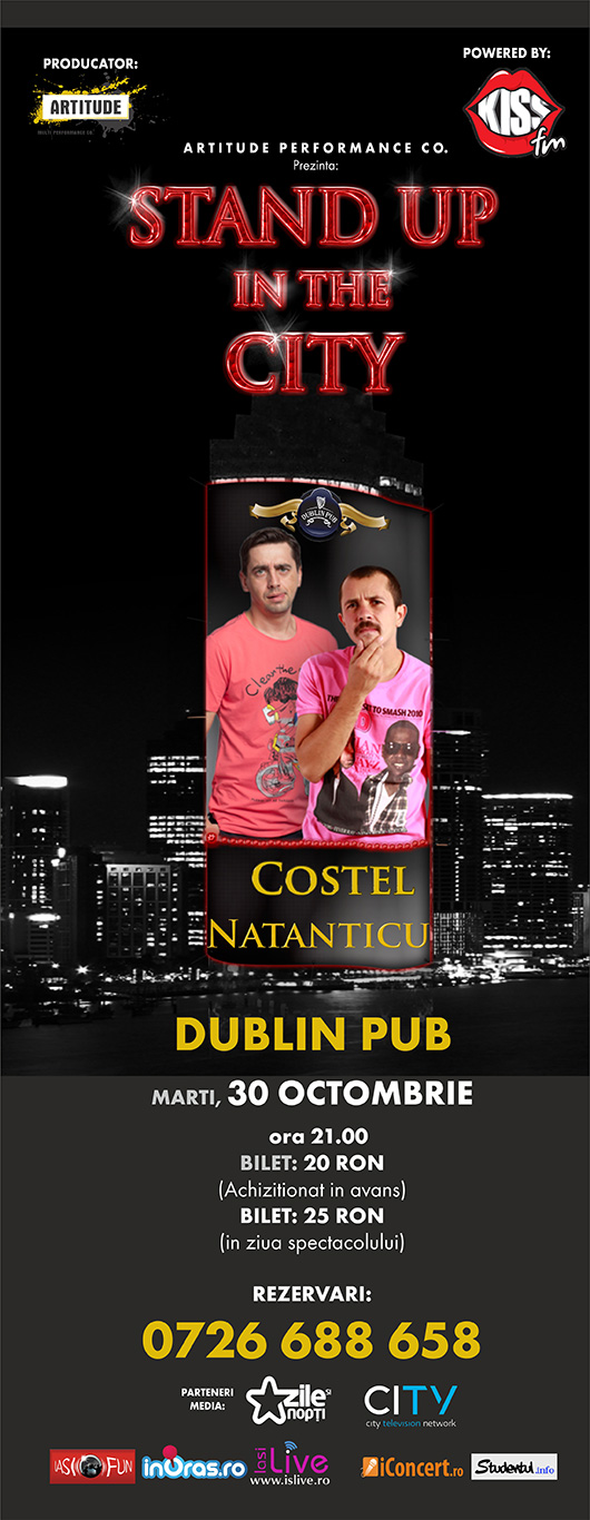 Stand Up In The City: Costel si Natanticu/ 30 octombrie 2012 afis