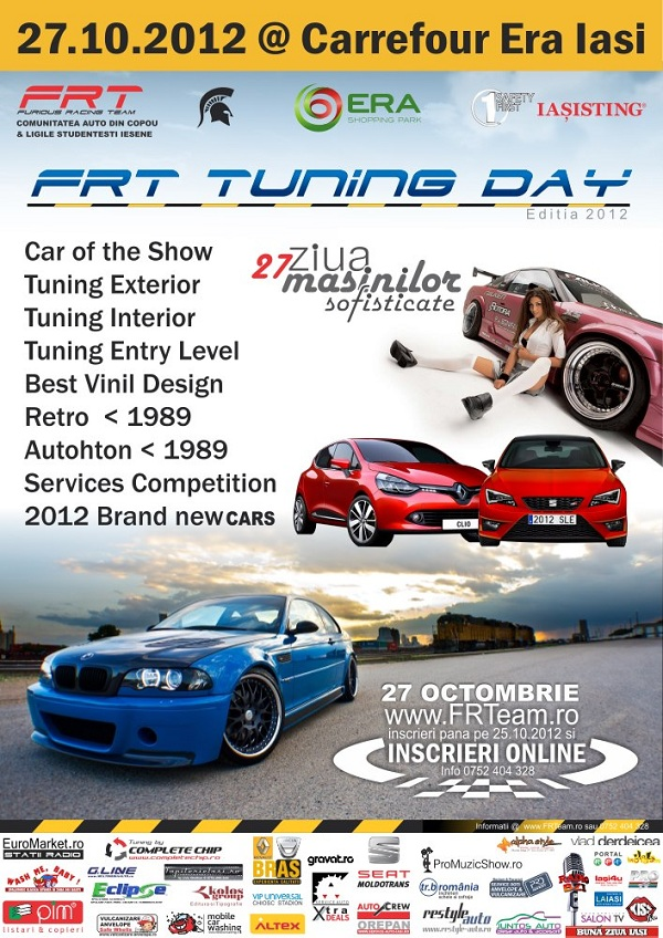 FRT Tuning Day, ziua masinilor sofisticate/ 27 octombrie 2012 afis