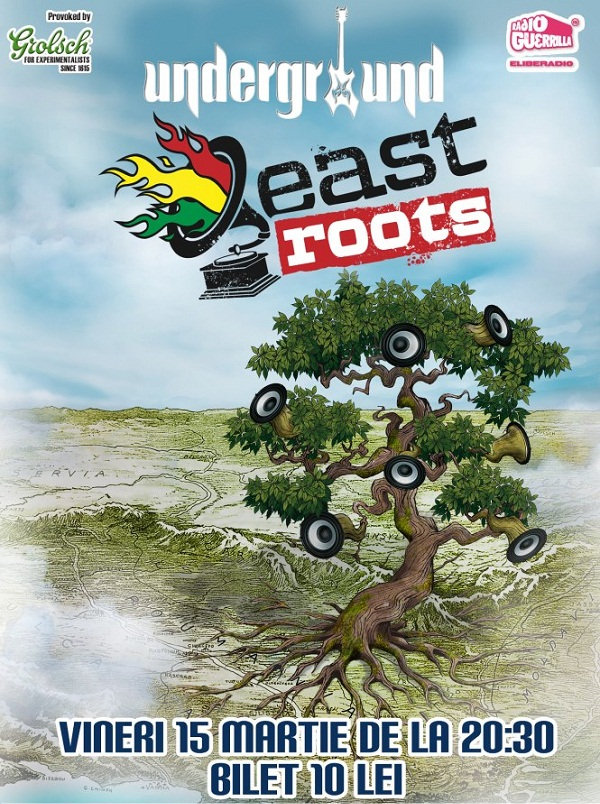 Concert East Roots în Underground afis www.iasifun.ro