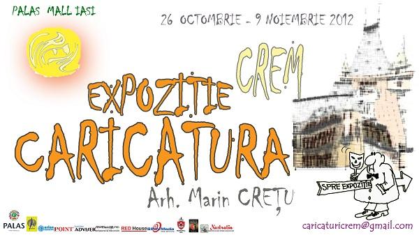 afis Expozitiei de caricatura CREM/ 26 octombrie - 9 noiembrie