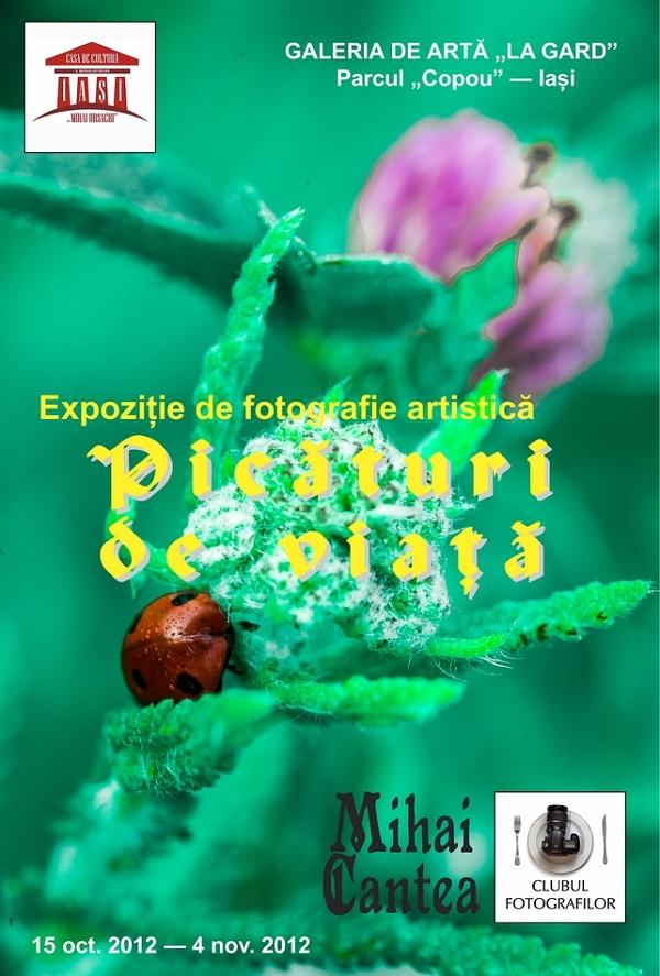 Picături de viață – expoziție de fotografie semnată Mihai Cantea/ 15 octombrie – 04 noiembrie afis