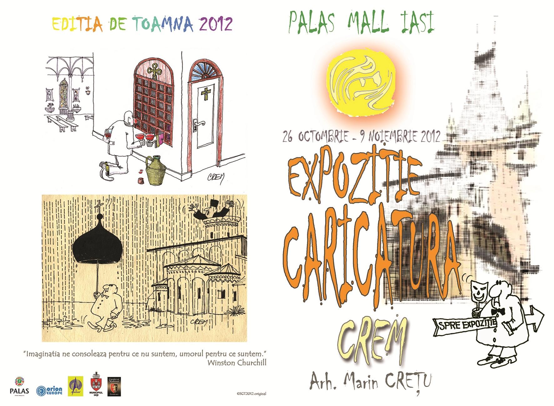 Expozitiei de caricatura CREM/ 26 octombrie - 9 noiembrie pliant fata