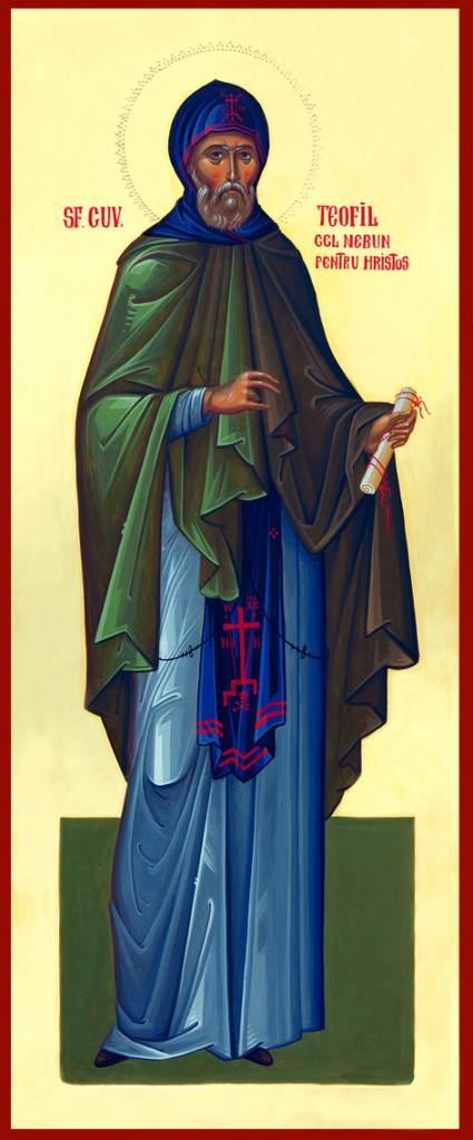 Viața Sfântului Cuvios Teofil, cel nebun după Hristos