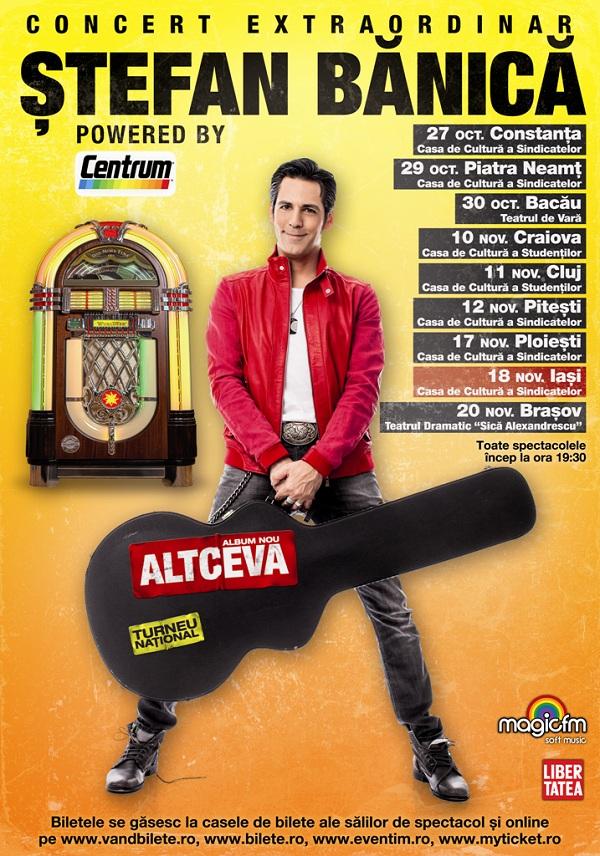 """afis REPROGRAMAT! Concert Stefan Banica - Turneul National """"Altceva"""" / 18 noiembrie 2012"""