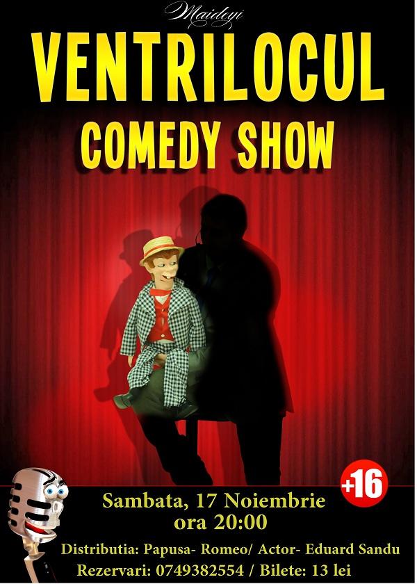 """Spectacolul """"Ventrilocul""""/ 17 noiembrie Maideyi afis"""