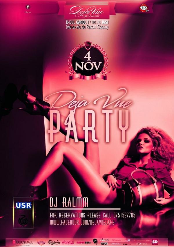 Deja Vue Party/ 4 noiembrie 2012 afis