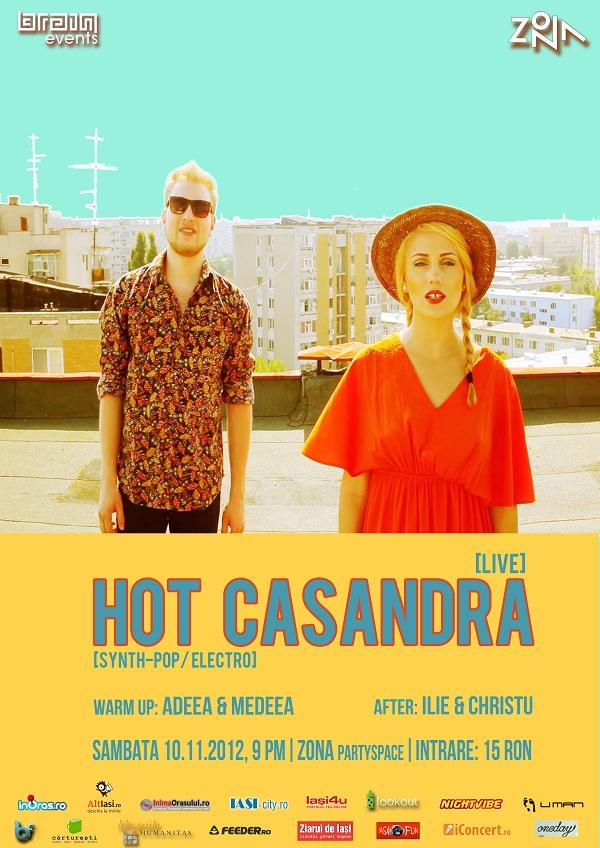 Cei de la Hot Casandra vin in Iasi/ Zona, 10 noiembrie afis brain events zona