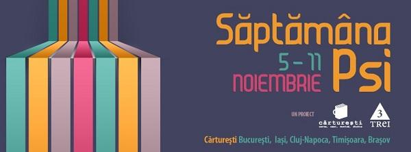 Editura Trei si Carturesti va invita la Saptamana PSI/5-11 noiembrie banner