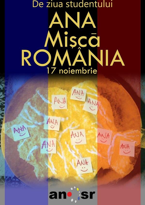 ANA mișcă România/ 17 noiembrie afis