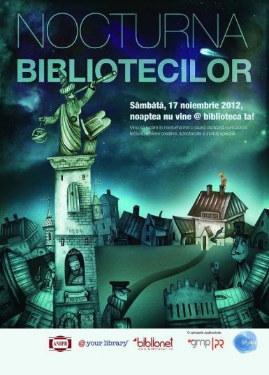 Nocturna bibliotecilor Iasi: Biblioteca Gheorghe Asachi si libraria Carturesti vor fi deschise in noaptea de sambata spre duminica afis