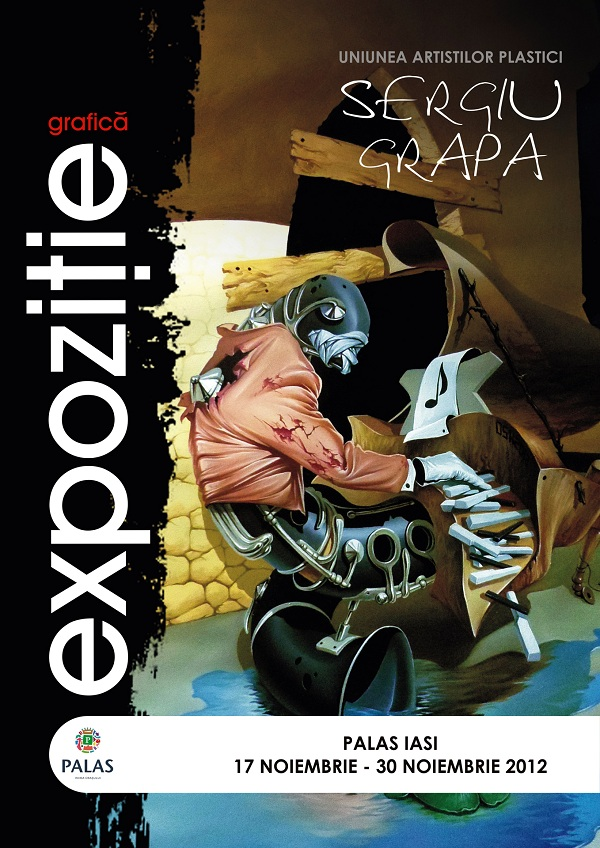 Expozitie de grafica Sergiu Grapa 17 noiembrie – 30 noiembrie afis