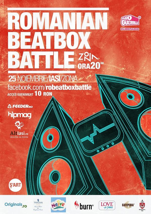 Romanian Beatbox Battle(IASI)/ 25 noiembrie afis
