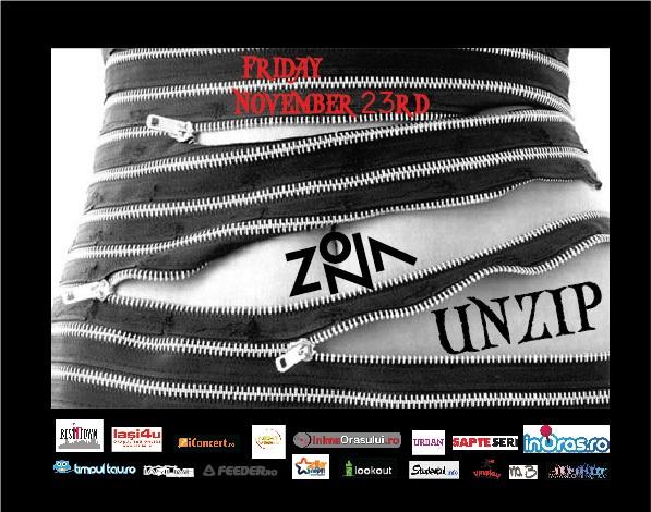 UNZIP in Zona/ 23 noiembrie afis