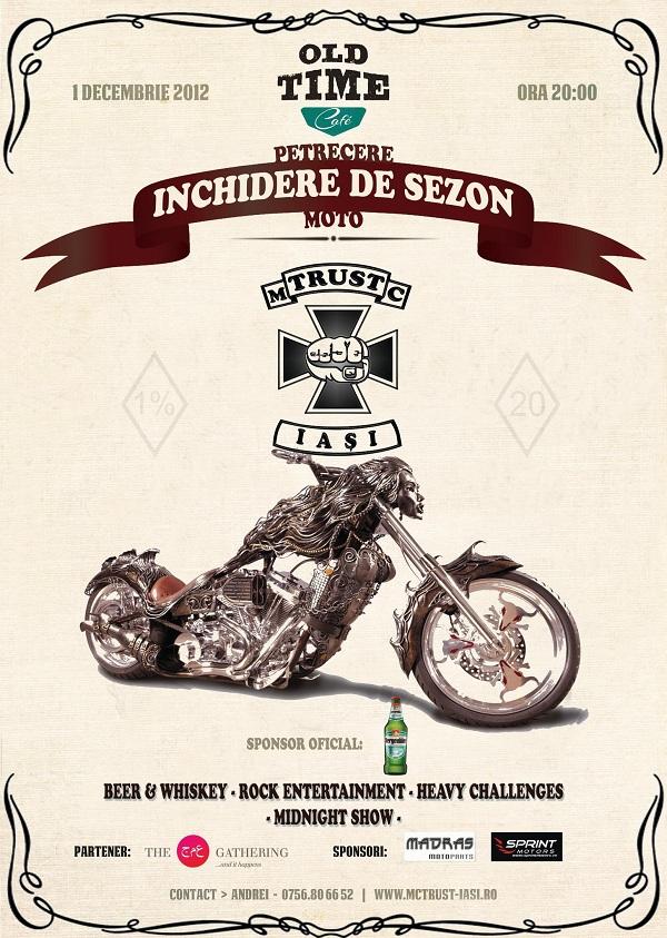 Petrecere de inchidere de sezon moto/ 1 decembrie afis