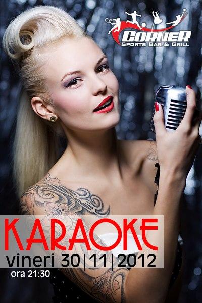 Karaoke la Corner Bar in fiecare vineri afis