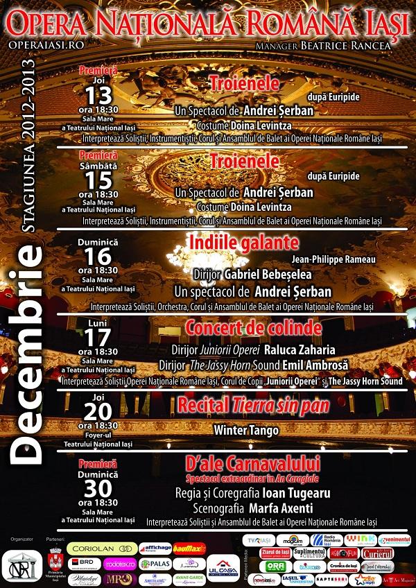 Decembrie Opera Nationala Romana Iasi afis