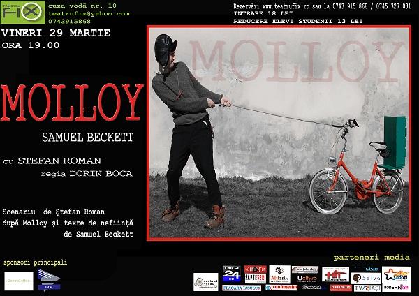 Teatru' Fix / Molloy, de Samuel Becket/ Iasi afis