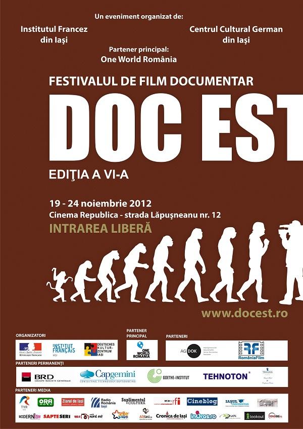 Festivalului Filmului Documentar DOC EST/ 19-24 noiembrie 2012 afis