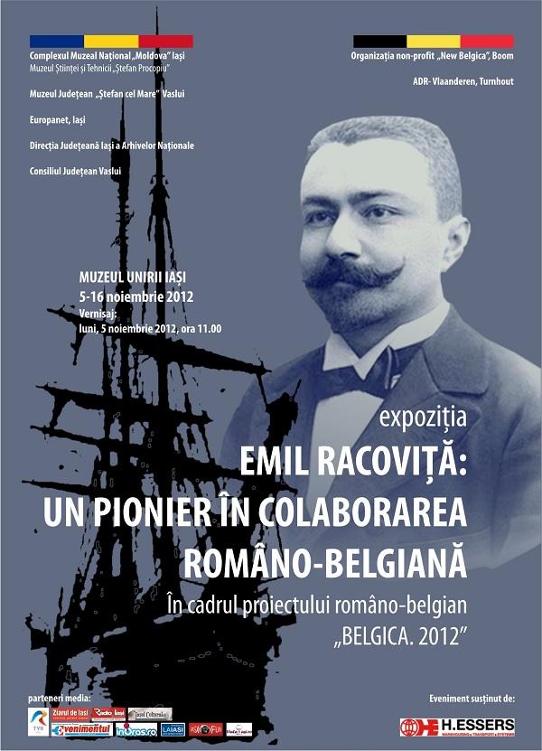 """Expoziția """"Emil Ravoviță: un pionier în colaborarea româno-belgiană""""/ 5-16 noiembrie afis"""