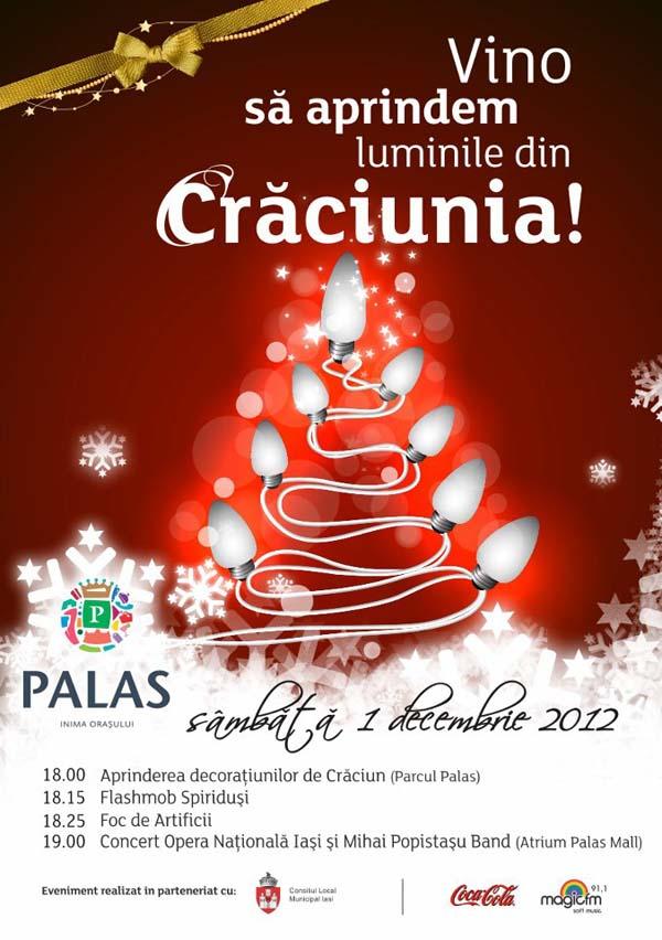 aprinderea decoratiunilor de craciun_palas mall