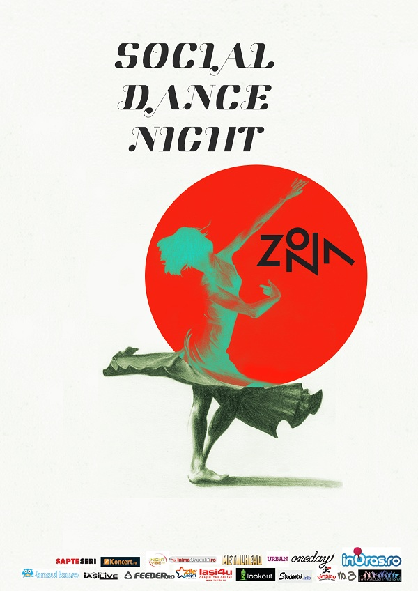 Social Dance Night in Zona/ 8 noiembrie afis