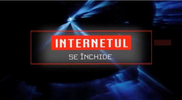 Documentarul Internetul se inchide