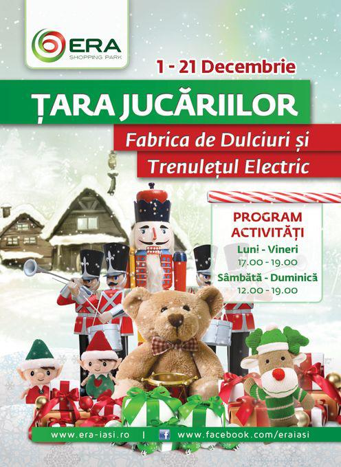 Tara jucariilor la Era Park/ 1 - 21 decembrie afis