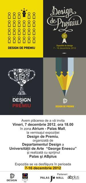 """Expozitia """"Design de Premiu""""/ 7 - 16 decembrie afis"""
