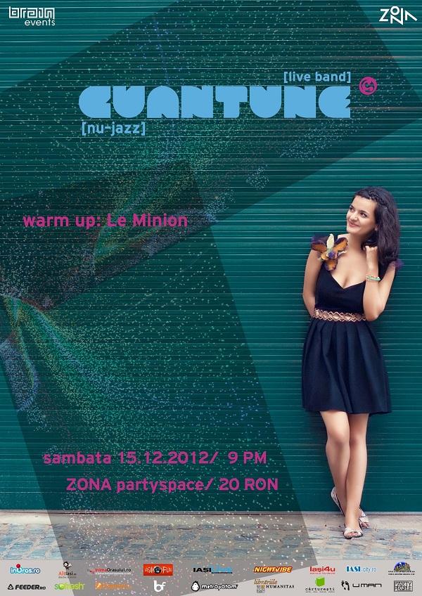 Concert Cuantune in Zona, Iasi/ 15 decembrie afis