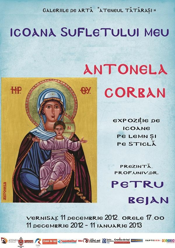 """Expozitia """"Icoana sufletului meu""""(Antonela Corban)/ 11 decembrie 2012 - 11 ianuarie 2013 afis"""