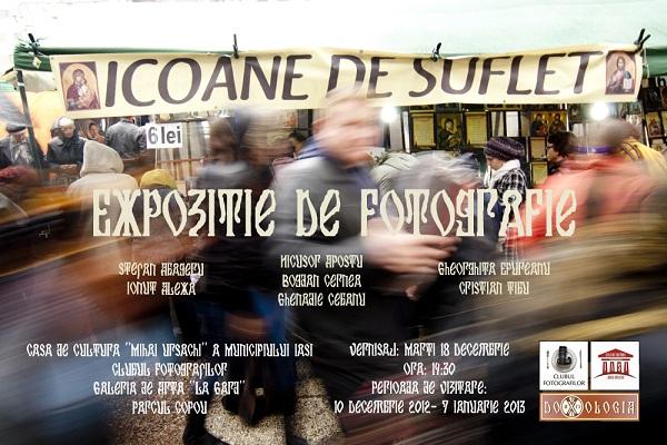 """Expozitia """"Icoane de Suflet""""/ 10 Decembrie 2012 – 7 Ianuarie 2013 afis"""