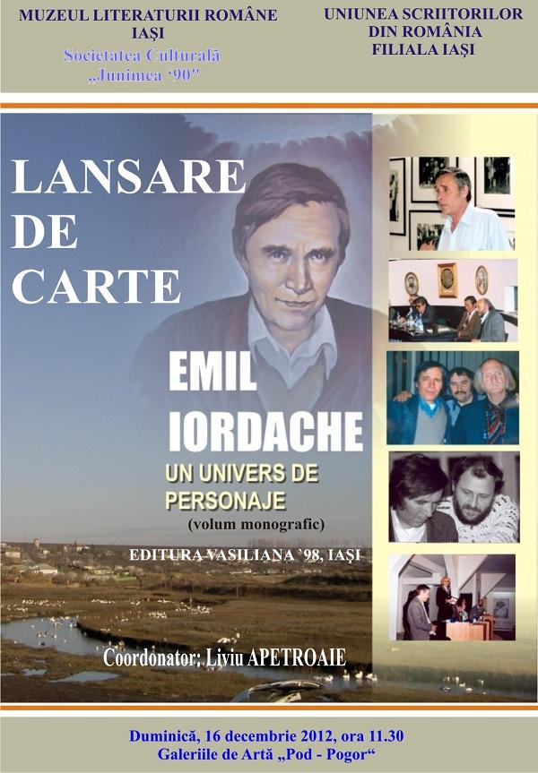 """""""Emil Iordache, un univers de personaje""""/ 16 decembrie afis"""