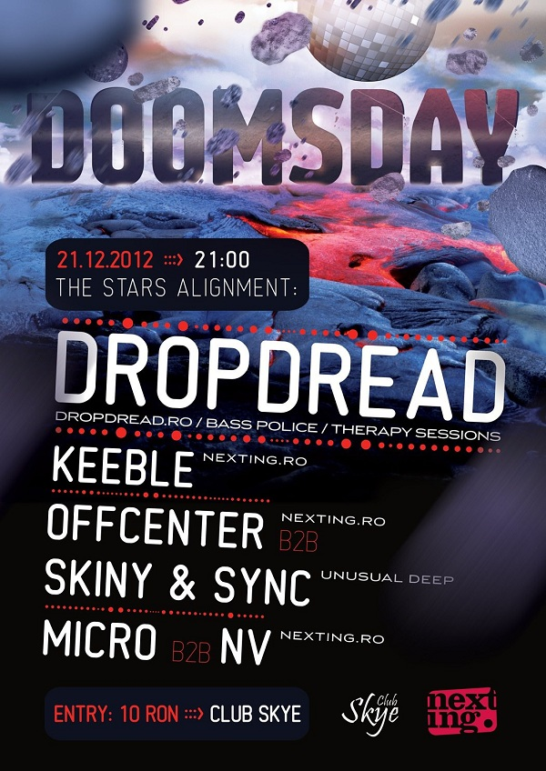 DOOMSDAY PARTY in Club Skye/ 21 decembrie afis