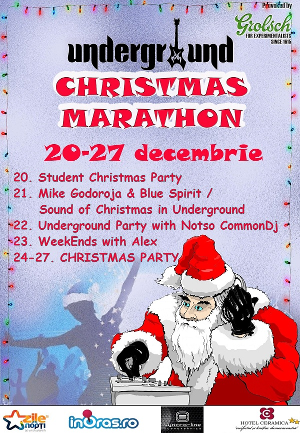 Christmas Maraton in Underground Pub/ 20 - 27 decembrie afis