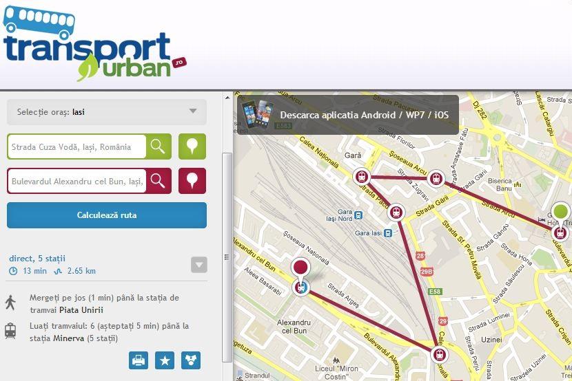 Transport Urban, o aplicatie pentru iesenii de rand gadget my love ziarul de iasi
