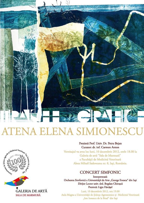 """Vernisajul expoziției """"Trasee vizuale"""" - Atena Elena Simionescu afis"""