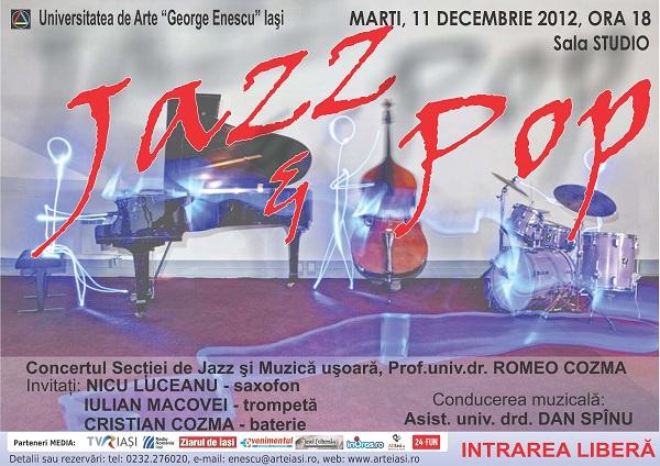 Concertul clasei de jazz şi pop afis