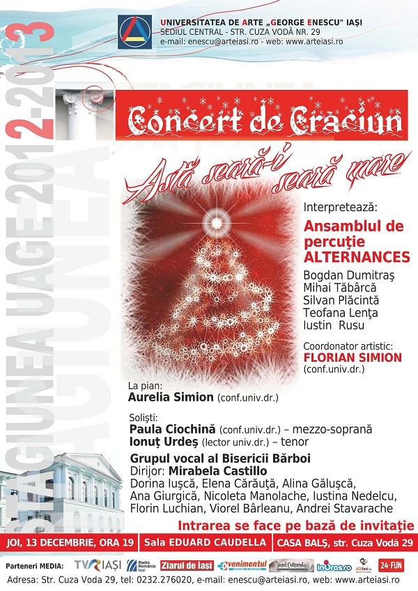 """Concert de Crăciun - Ansamblul de percuţie """"Alternances"""" afis"""
