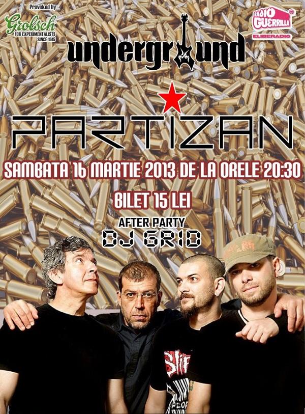 Concert Partizan in Underground Pub afis www.iasifun.ro