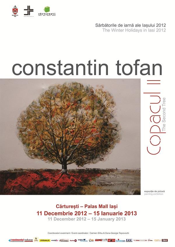 """afis Expozitia de pictura """"Copacul II""""/ 11 decembrie 3012 – 15 ianuarie 2013"""